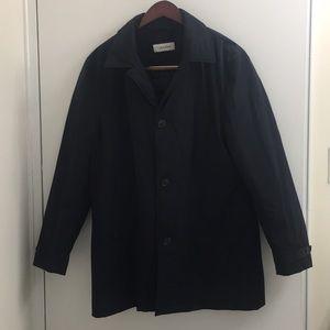 Calvin Klein Black Rain Coat